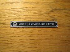 Pocher 1/8 Mercedes Benz 540K Classic Roadster Metal Display Plaque
