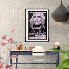 More details for blondie hammersmith concert poster 3 print options or two framed options new