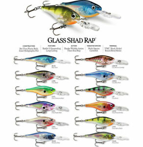 Rapala Glass Shad Rap // GSR04 // 4cm 5g Fishing Lures (Choice of Colors)