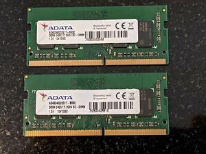 2 X 2GB (4GB Combined) ADATA RAM Memory DDR4 2400(17) SO-DIMM AD4S240022G17
