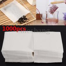 1000pcs Empty Teabags Heat Seal Filter Paper Herb Loose 5.5 x 6.2cm Tea Bags Hot