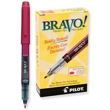 11036 Pilot Bravo Liquid Marker Pen, Bold Tip, Red Ink, Pack of 12