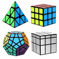 4Pcs Magic Cube Set Bundle 3x3,Pyramid,Megaminx,Mirror Cube Speed Puzzle kid toy