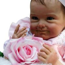 Baby Handmade Lifelike Baby Girl Doll Silicone Vinyl Reborn Baby Newborn 22inch