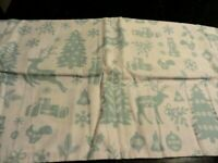new 2 HOLIDAY white blue SNOWFLAKES reindeer gift flannel Pillow Cases Christmas