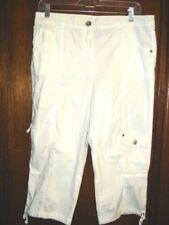 Style Co White Cropped Capri Cargo Pants Size 12