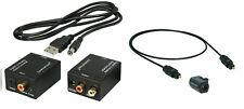 Digital zu Analog Audio Konverter + 1,8m Toslink + Winkeladapter + USB-DC Kabel