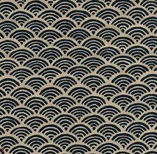 Pièce de tissu Japonais Coupon Sashiko 45x54 cm Bleu/écru