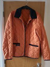 Henri Lloyd Quilted Coat Jacket orange navy corduroy trim barbour fred perry