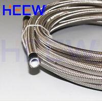 3M Stainless STEEL Braided E85 AN8 AN-8 PTFE inner Teflon Oil Line Fuel Hose