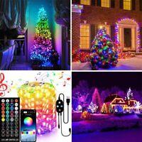 Christmas Tree RGB LED USB Blootooth String Light Smart 44Key IR Remote App Deco