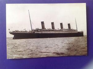 R.M.S Titanic Beken 7/3/90 postcard signed AT Lightoller grandson Officer 10/100