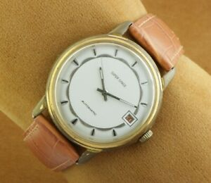 VINTAGE SUPER SPACE AUTOMATIC SWISS MEN'S WORKING WRIST WATCH 36MM A0132