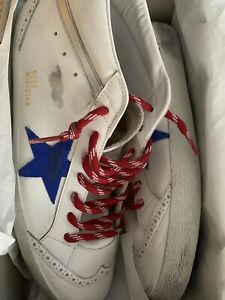 Golden Goose Mid Star Men's Sneakers  suede  white leather Sz 14 / 47