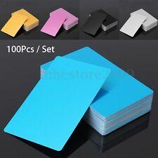 100Pcs/Set 86x54x0.22mm Blanks Laser Engraved Metal Business Mark Cards 3.4x2.1