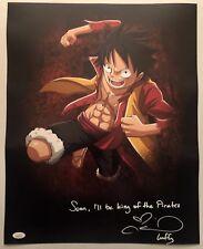Colleen Clinkenbeard Signed Autographed 16x20 Photo Luffy One Piece JSA COA 1