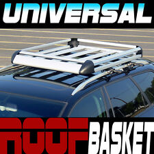 "Silver Aluminum 50"" Roof Rack Rail Basket Cargo Bag Utility Gear Container SD4"