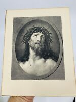 Antique Photogravure CO.N.Y. Jesus Christ & crown of thorns