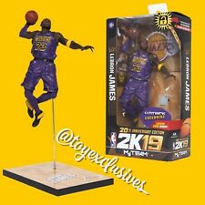 McFarlane X 20th NBA 2K19 Lebron James Figure Purple LA Lakers NTWRK Exclusive
