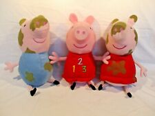123 Peppa Pig Talking Plush Soft Toy Large 14 Inch + 2 Other Peppa Pigs Plushes