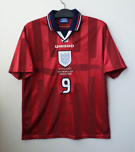 1998 ENGLAND Away shirt S/S No.9 SHEARER 1998 France WorldCup L