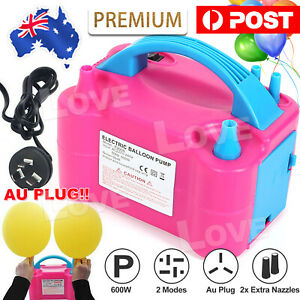 Hot Electric Balloon Inflator Pump Two Nozzle High Power Air Blower Portable AU