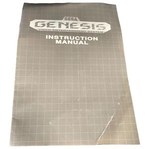 Sega Genesis System, Original Instruction Booklet Manual Only