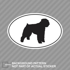 Bouvier des Flandres Euro Oval Sticker Decal Vinyl dog