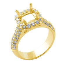0.90Ct Round Diamond Semi Mount Wedding G VS1 Engagement Ring 14k Yellow Gold