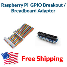Raspberry Pi 2 3 GPIO Breakout Expansion Board + 40 pin Cable Breadboard Adapter