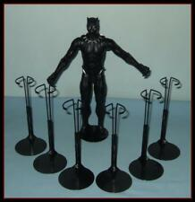 "6 BLACK Kaiser Display Stands Fit 12"" MARVEL AVENGERS Action Figures Ken Dolls"