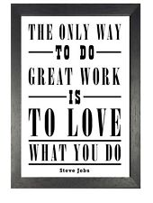 Steve Jobs 1 Motivation Inspiration Quote Poster Apple Company Photo Work Love