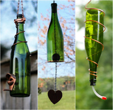 Green and Copper Bird Feeder and Wind Chime Set - Gift for Mom - Deck Decor