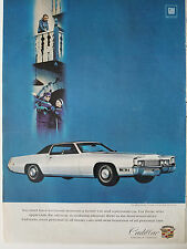 1969 Fleetwood Eldorado Cadillac Motor Car Co Original Color Ad
