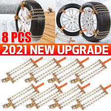 8X Stabile Schneeketten Anfahrhilfe Schnee Reifen Anti-Rutsch für Auto 235-285mm