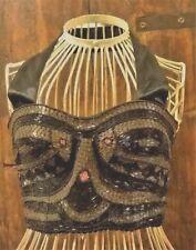 Top sottogiacca boustier corsetto Capodanno da sera ballare nero ricamato