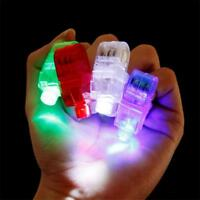 50x LED Finger Lights Lamps Party Laser Finger Light Up Beam Torch Glow Ring New