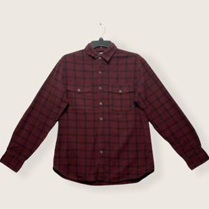 Nike 6.0 Men's Burgundy Plaid Button Up LS Shirt M