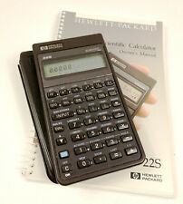 Vintage 1988 Usa Hewlett Packard Hp 22S Scientific Calculator with case & Manual