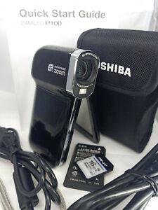 TOSHIBA Camileo P100 Full HD Pocket Digital Camera & Video Camcorder - Black
