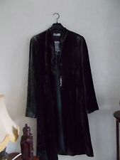 Black velvet coat women's