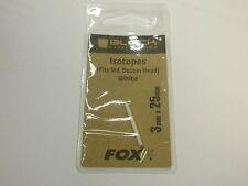 Fox Black Label isótopo 3x25mm Blanco Aparejos de Pesca de Carpa