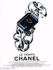 PUBLICITE ADVERTISING 065  1997  CHANEL  montre collection LE TEMPS
