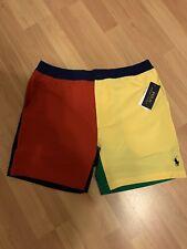 NWT Polo Ralph Lauren Prepster 6 in Men Medium Color blocked Swim Shorts Trunks