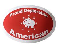 Trump Deplorable American decal window bumper sticker