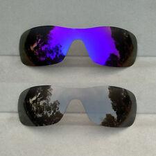 Black&Purple Mirrored Replacement Lenses for-Oakley Antix Sunglasses Polarized