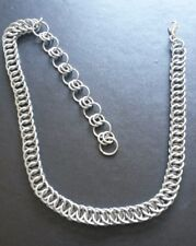 "12""-16"" 4 in 1 Persian Weave Choker Chain-mail Necklace Stainless Steel Handmade"