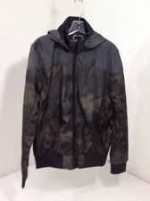 BRAVE SOUL MEN'S CAMO HOODED CAGOULE JACKET CAMO/HEATHER CHARCOAL MED NWT