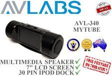 "AVLabs MYTube (AVL340) Versatile speaker iPod iPhone dock w/ 7"" LCD screen *RFB*"