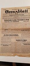 Sebnitz Grenzblatt  vom 12.10.1933 seltene  original alte Zeitung !